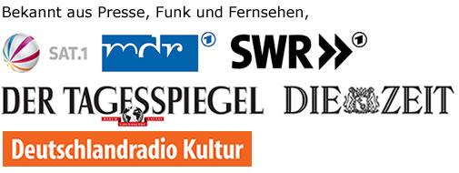 Bekannt aus Presse, Funk und Fernsehen