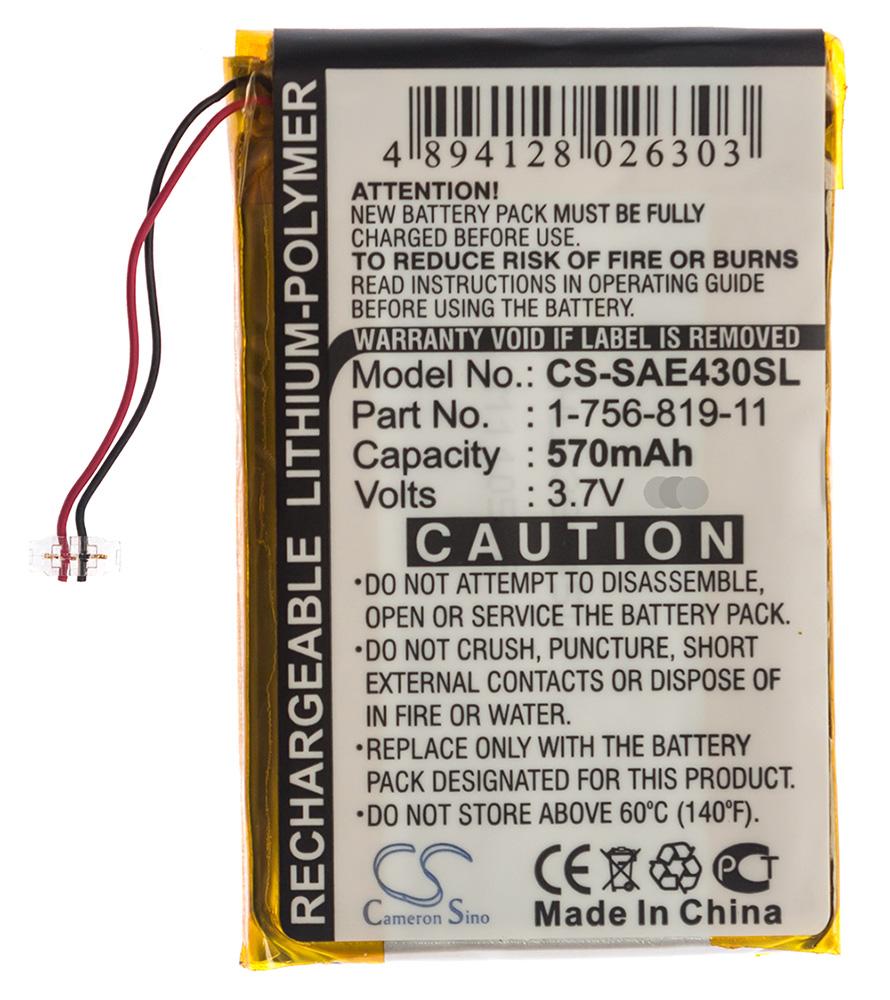 Battery for Sony Network Walkman NW-E436F NWZ-E438FBLK