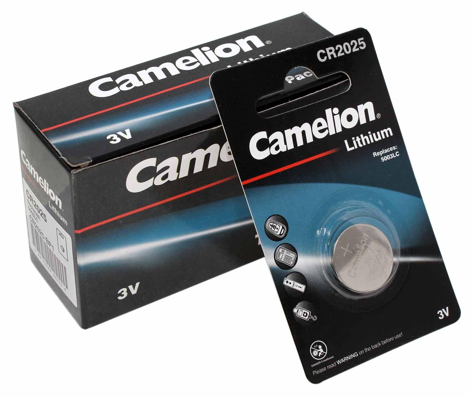 10x Camelion CR2025 [CR2025-BP1] Lithium Knopfzelle Batterie, DL2015, 5003LC, E-CR2025, 3V, 150mAh