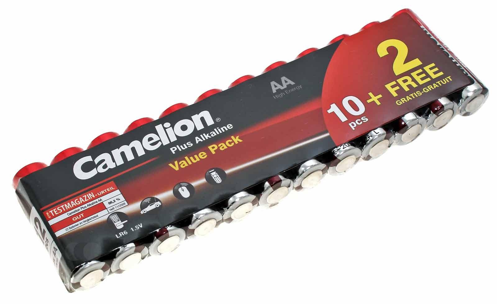 12er Value Pack Camelion Plus Alkaline Batterien AA Mignon [LR6-BP4] LR6 AM3 MN1500 E91 | 1,5V 2700mAh