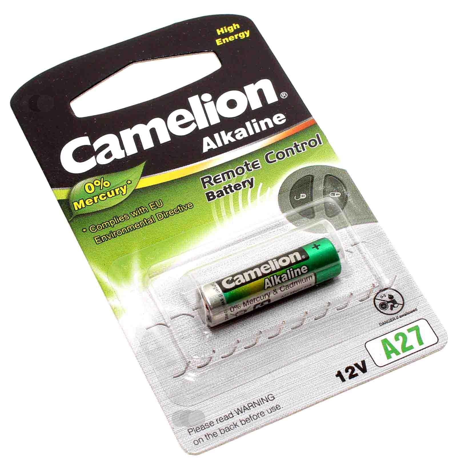12V Camelion A27 Alkaline Remote Control Fernbedienung Batterie, 26mAh, wie LR27A, G27A, MN27, GP27A
