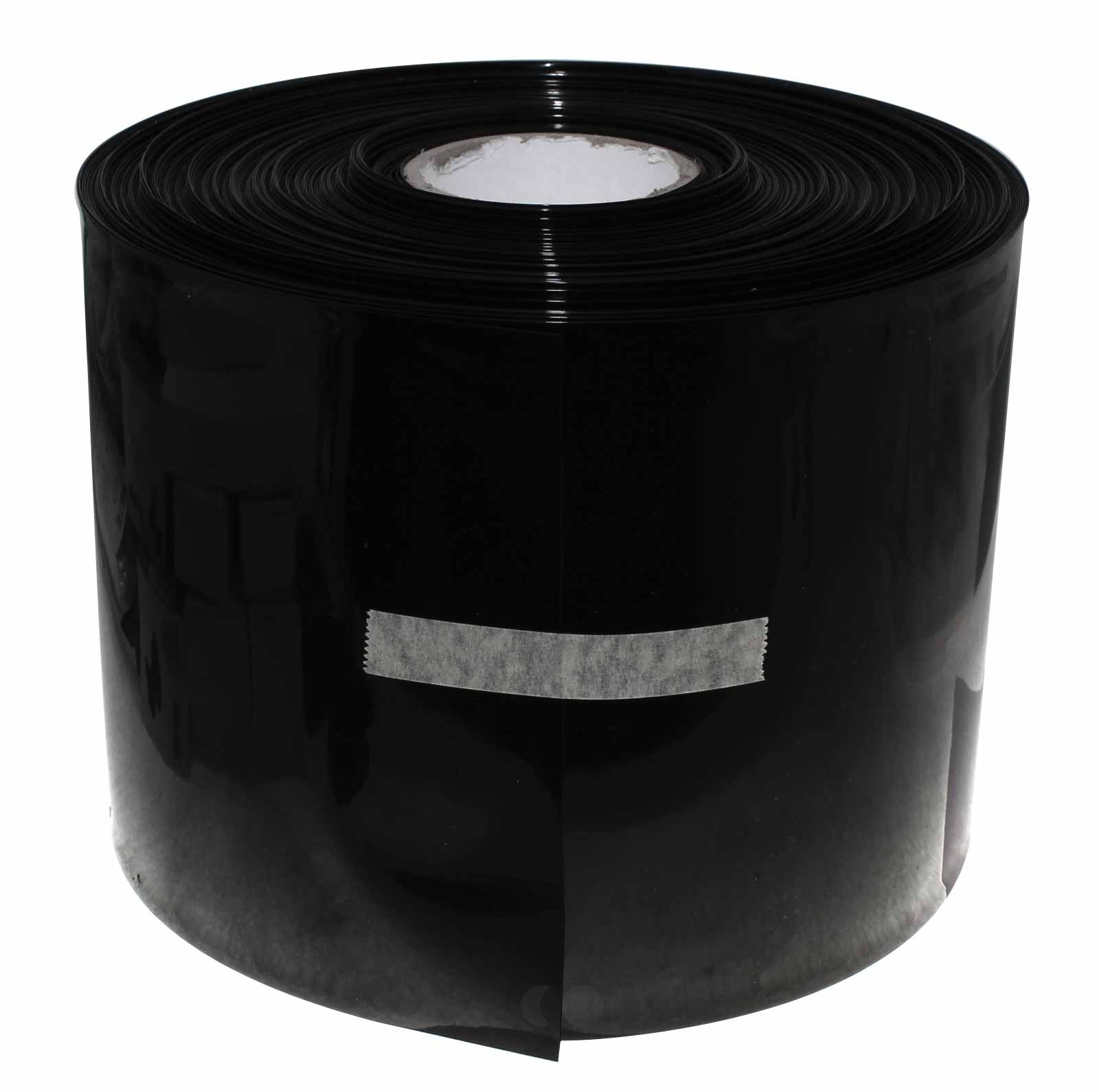 1 Meter Hart PVC Schrumpfschlauch, 200mm Flachmass, 0,1mm Wandstärke, schwarz