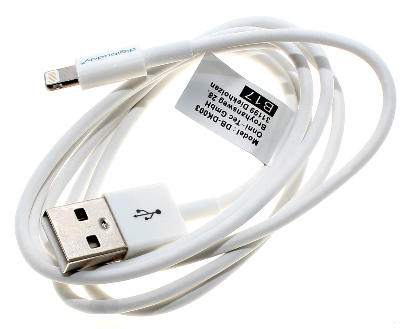 1 Meter USB Daten- und Ladekabel für Apple iPhone, iPad und iPod, für Geräte mit Lightning Connector geeignet