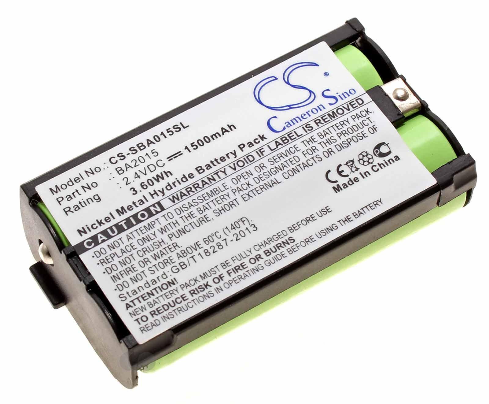 Alternativer Ni-MH Akku für Sennheiser 2015FM, EK1038 und G2 mit 2,4 Volt und 1500mAh Kapazität, ersetzt den original Akku BA2015 und BA2015G2