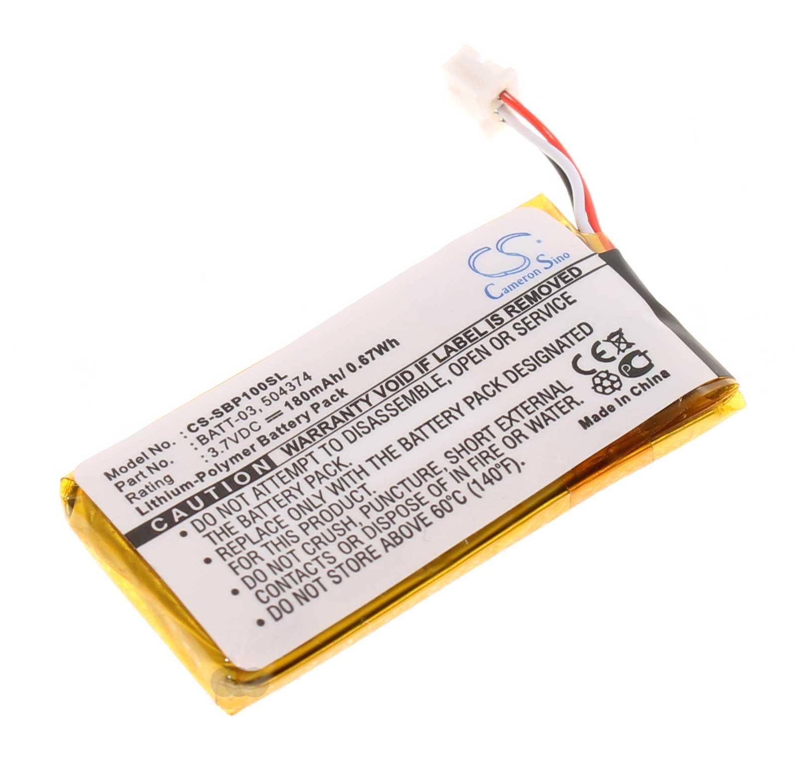 3,7V Akku für Sennheiser Headsets DW MB SD Pro ML 1 2 Office Runner, 504374 BATT-03, 180mAh