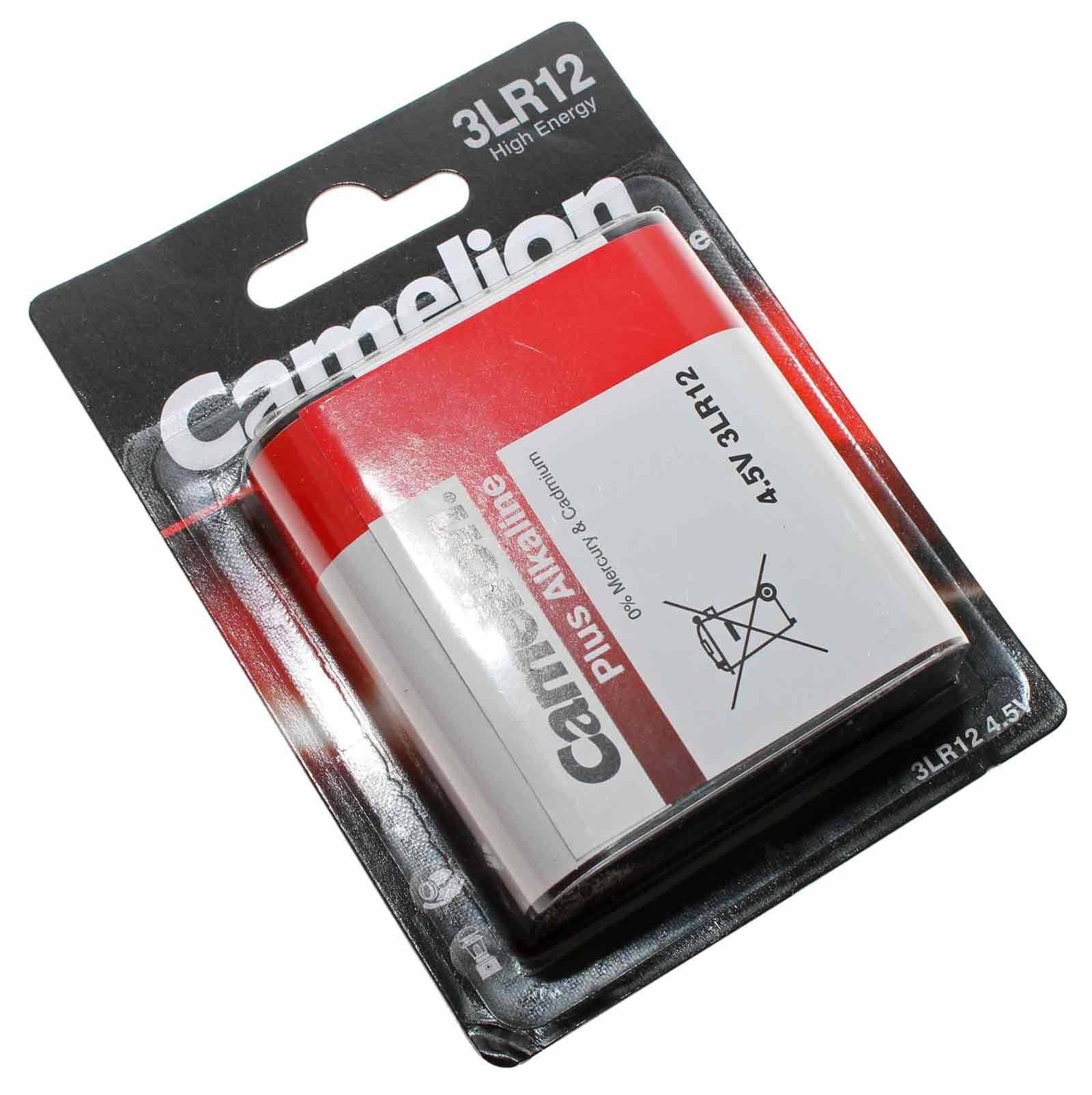 Camelion 3LR12 Plus Alkaline Flachbatterie mit 4,5 Volt und 3000mAh Kapazität