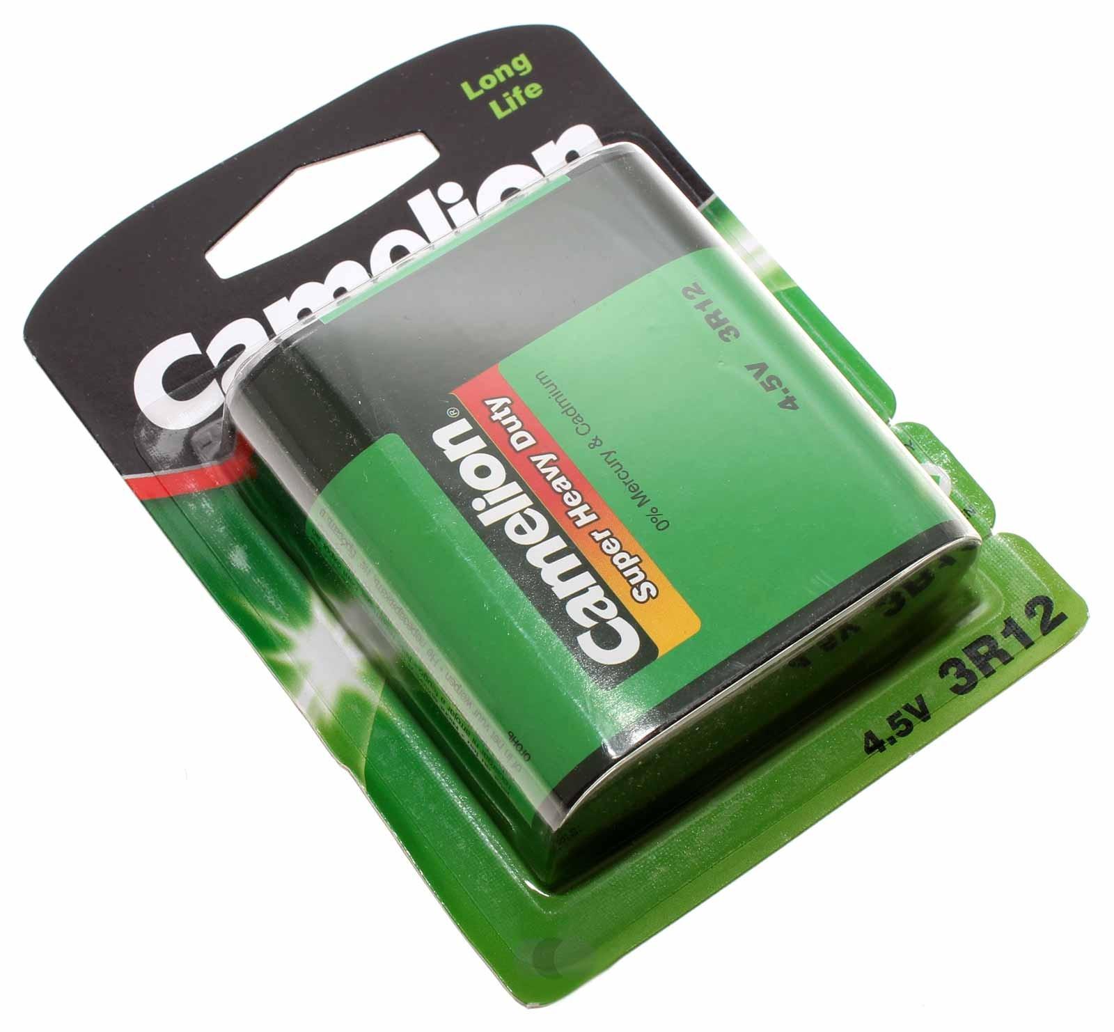 Camelion 3LR12 Super Heavy Duty Flachbatterie mit 4,5 Volt und 2000mAh Kapazität