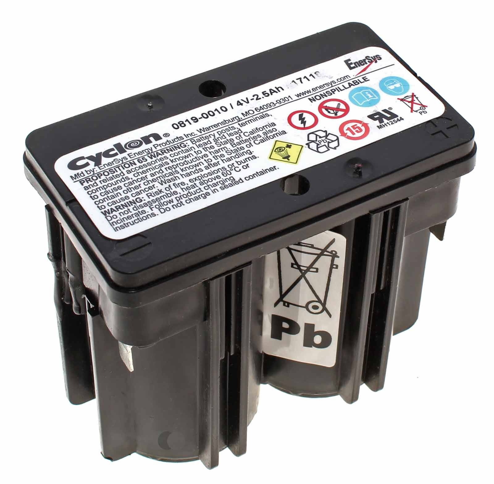 Blei Akku Hawker Enersys Cyclon 0819-0010 Monobloc D cell mit 4 Volt und 2,5Ah Kapazität