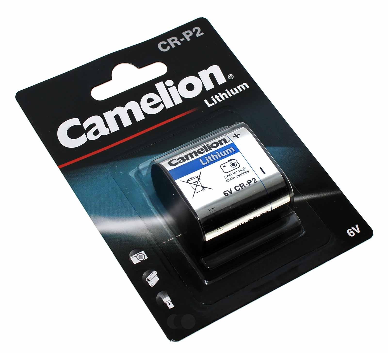 6V Camelion CR-P2 Lithium Foto Batterie, 1400mAh, wie 5024LC, CR223A, DL223A