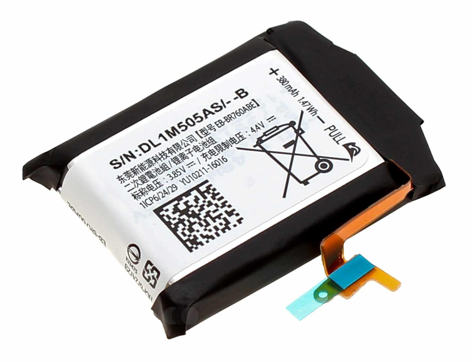 Akku für Samsung Gear S3 Frontier SM-R760 Gear S3 Classic SM-R770, EB-BR760ABE, GH43-04699A, 3,85V, 380mAh