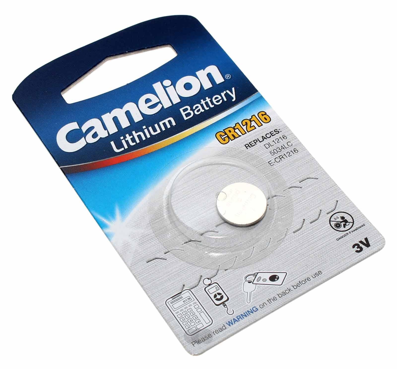 Camelion CR1216 [CR1216-BP1] Lithium Knopfzelle Batterie, DL1216, ECR1216, KCR1216, 3V, 25mAh