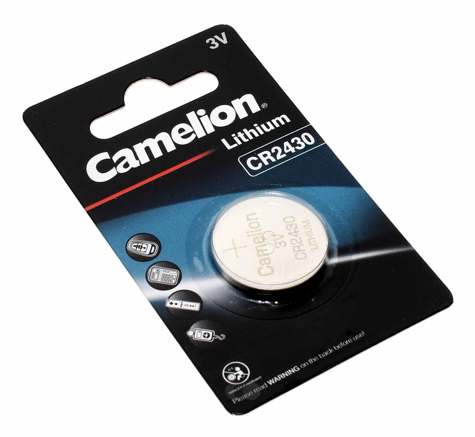 Camelion CR2430 Lithium Knopfzelle Batterie 3V, 270mAh, CR2430-BP1, DL2430, 5011LC, E-CR2430, Uhr Taschenrechner
