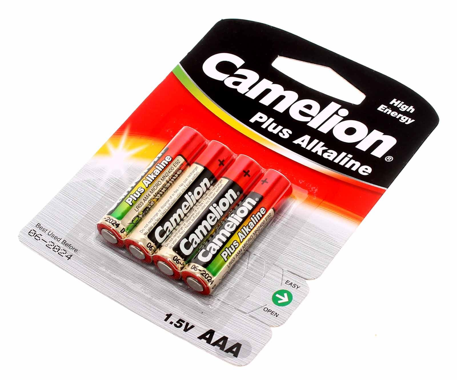 4er pack camelion batterien 1 5v aaa 1250mah lr03 bp4 am4. Black Bedroom Furniture Sets. Home Design Ideas