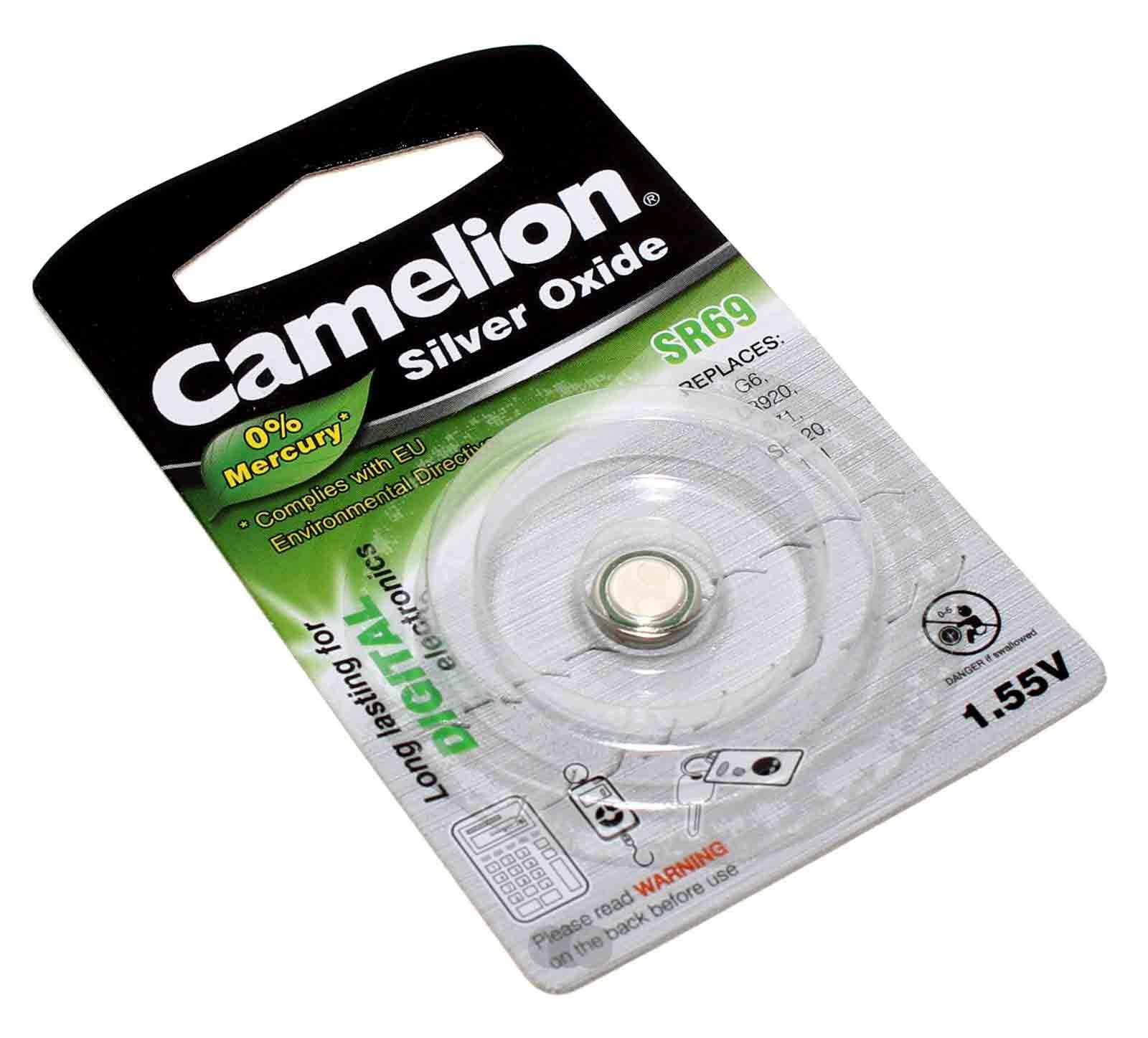 Camelion SR69 Silber-Oxid Knopfzelle Batterie, G6, LR920, 371, 171, SR920, 1,55V, 25mAh