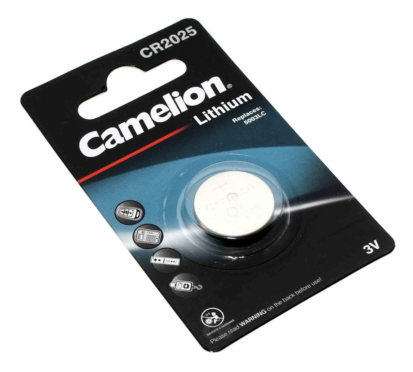 CR2025 Lithium Knopfzelle Batterie für Braun BNC016 Digital VA LCD Wecker mit 3 Volt und 150mAh Kapazität