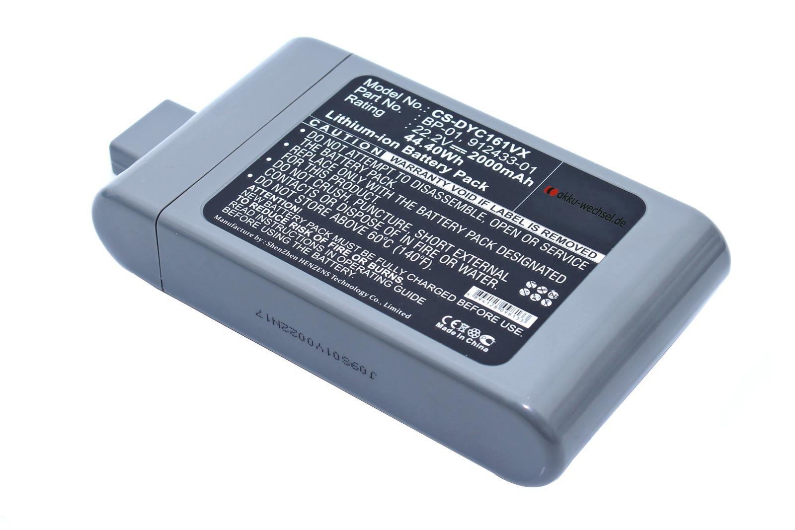 Akku passend für Dyson DC16 / D12 / 912433-03 mit 2000mAh Kapazität