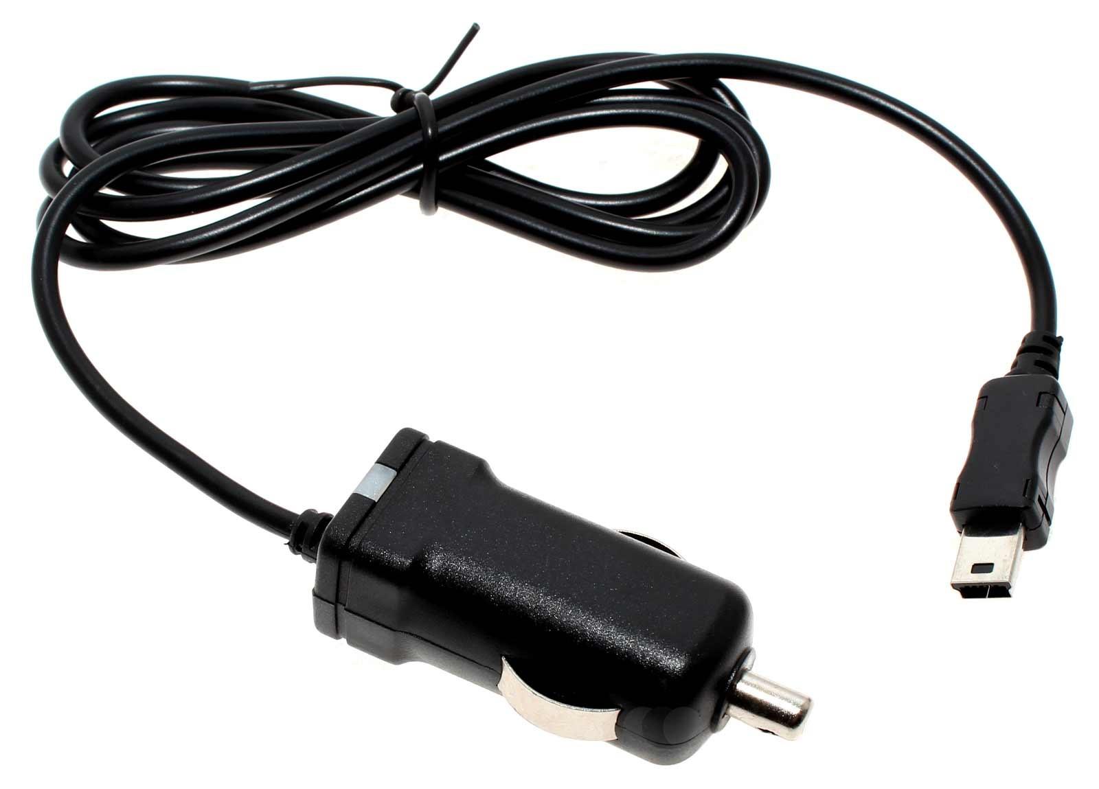 Alternatives 12 Volt/  24 Volt KFZ Ladekabel für Geräte mit Mini USB Anschluß mit integrierter TMC Antenne und Betriebs-LED Anzeige für Navigon Live