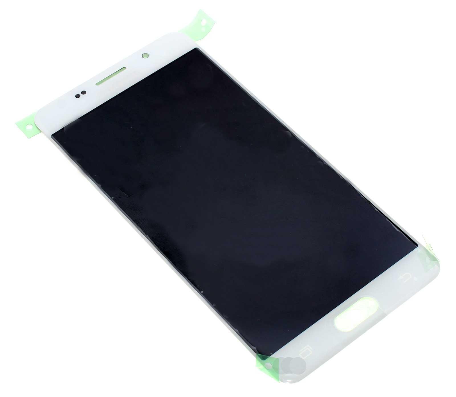 Display, LCD, Touchscreen, Digitizer, Displayeinheit in Farbe weiß für Samsung Galaxy A5 SM-A510F (2016) Smartphone, Handy, Mobiltelefon, wie Ersatzteil Teilenummer GH97-18250A