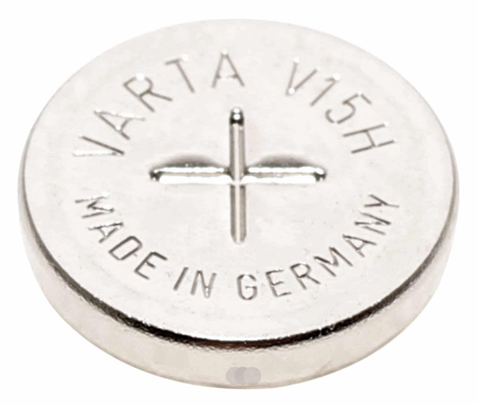 Varta V15H NiMH Akku aufladbare Knopfzelle Batterie 55602101501, 1,2V, 15mAh