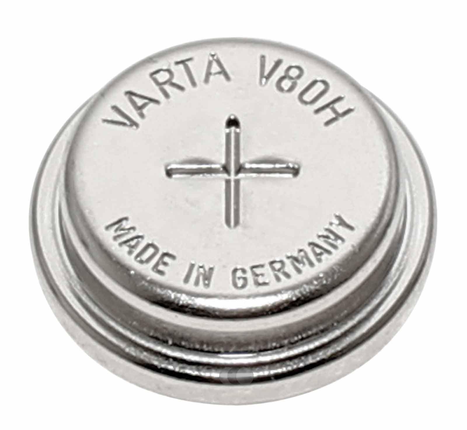 Varta V80H NiMH Akku aufladbare Knopfzelle Batterie 55608101501, 1,2V, 80mAh