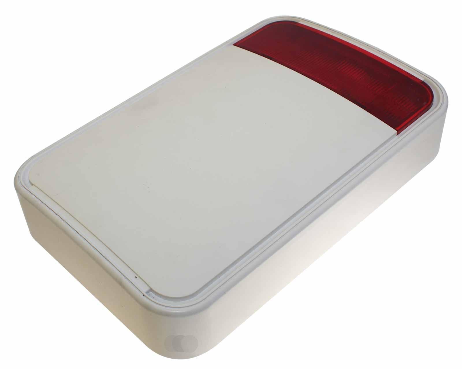 Gebrauchte Visonic MCS-730 (868) RED Fully Wireless Outdoor Siren, Außensirene Blinkleuchte für Alarmanlage, P/N: 90-203035