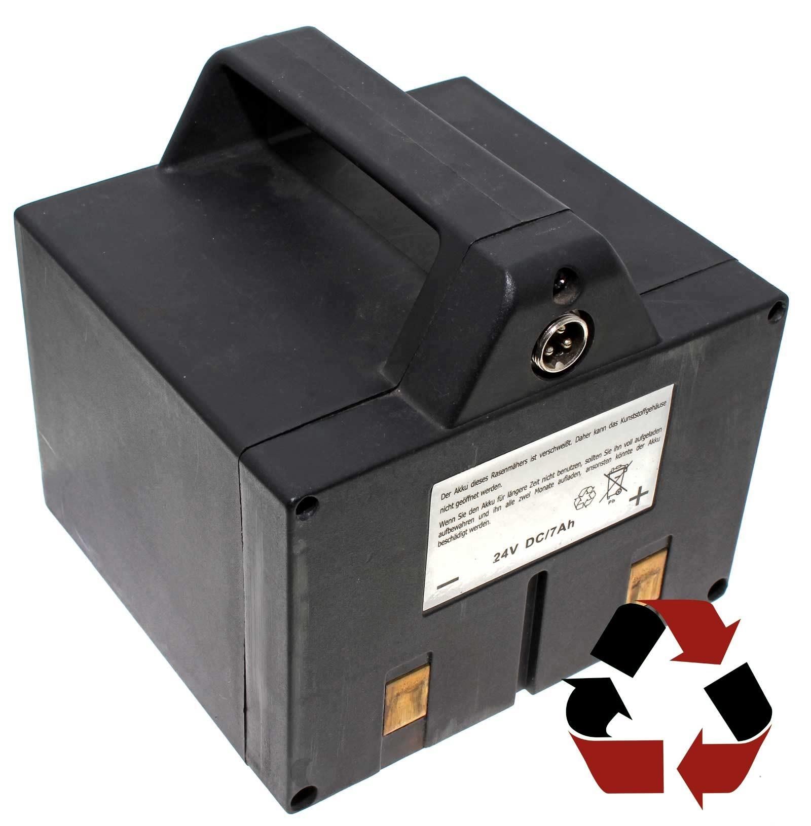 Wir tauschen die Zellen (24v DC/7Ah) des Akku-Packs Ihres Green Tools XSS30 ed Akku-Rasenmähers aus