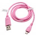 0,95m Micro USB Datenkabel für Smartphone Handy Tablet | Pink