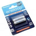 2er Pack Panasonic eneloop AAA HR03 Micro NiMH Akku | 1,2V 750mAh | BK-4MCCE/2BE