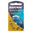 BB 03.18 - 6er Pack Rayovac Knopfzelle Batterie Typ 10 | PR70 | für Hörgeräte | (hearing aid) | 1,45 Volt
