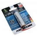 PCB geschützter 3,6V Ansmann 18650 Lithium-Ionen Akku | 2600mAh Kapazität
