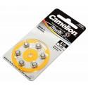 6er Pack Camelion Knopfzelle (Batterie) A10 | PR70 | A10-BP6 | für Hörgeräte | 1,4V | 90mAh