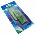 Original Nokia Xpress-on Cover für Nokia 3210 | SKR-8 Grün Blatt | Oberschale Akkudeckel Tastatur