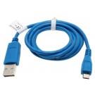 Blaues, 0,95m langes USB-Datenkabel und Ladekabel, USB 2.0 Typ A auf Micro-USB, für Smartphone, Handy, Tablet u.a.