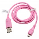 Pinkes, 0,95m langes USB-Datenkabel und Ladekabel, USB 2.0 Typ A auf Micro-USB, für Smartphone, Handy, Tablet u.a.