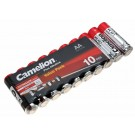 10er Pack Camelion Batterie 1,5V, AA, Mignon, 2700mAh, [LR6-BP4] LR6, AM3, MN1500, E91