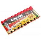 10er Pack Camelion Plus Alkaline Batterie 1,5V, AAA, Micro, 1250mAh [LR03-SP10-DA] AM4, MN2400, E92