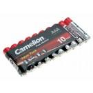 10er Pack Camelion Plus Alkaline Batterie 1,5V AAA Micro 1250mAh [LR03-SP10-DA] AM4 MN2400 E92