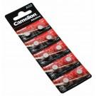 10x Camelion AG2 LR59 Knopfzelle Batterie, 280-28, 196, 2GA, G2A, GP196, LR726, L726, SG2, V2GA, 1,5V, 25mAh