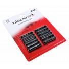 12er Pack blackred AAA Micro LR03 Batterien R03, AM4, MN2400, E92, 1,5V, 160mAh