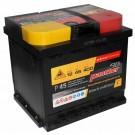 Auto-Batterie Panther Black Edition P+45 mit 12 Volt und 45 Ah Kapazität, +30% mehr Kaltstartleistung