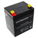 12V wiederaufladbare Bleivliesbatterie (AGM) von Multipower für USV, Sicherheits-, Alarm- Brandmeldeanlagen, wartungsfreier Bleiakku
