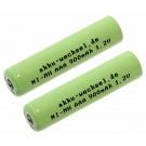 2 Stück AAA NiMH Akku passend für Telekom Sinus 502, A502, 502i, A502i, 602, A602, 602i mit 1100mAh Kapazität