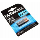 2er-Pack Duracell Ultra Alkaline Batterie, Typ AAAA, Mini, LR61 mit 1,5 Volt und 600mAh Kapazität, Teilenummer DUR041660
