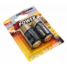 2er Pack Ansmann X-Power Alkaline Batterie Baby C (LR14) mit 1,5 Volt Spannung, Hersteller-Artikelnummer 5015623