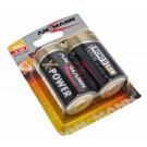 2er Pack Ansmann X-Power Alkaline Batterie Mono D (LR20) mit 1,5 Volt Spannung und 18000mAh Kapazität, Hersteller-Artikelnummer 5015633