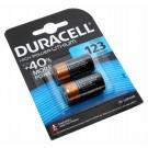 2 Stück Duracell Typ 123 High Power Lithium Batterie, bis zu 40 % mehr Leistung, mit 3 Volt und 1300mAh Kapazität, wie 018LC, CR17345, EL123AP, EL123A, DL123A, LR123, VL123, K123LA, RL123A