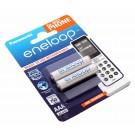 2 Stück Panasonic (ehemals Sanyo) eneloop AAA HR03 Micro Akku für DECT-Telefone, NiMH mit 1,2 Volt und 800mAh Kapazität, Teilenummer BK-4MCCE/2DE