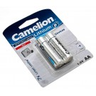 2x Camelion AA Mignon LR06 Lithium Batterie für Braun Thermoscan IRT 4520 Fieberthermometer, 1,5V, 2900mAh