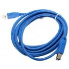 3m USB 3.0 Kabel Stecker Typ A auf Stecker Typ B für Drucker, Scanner, HDD, 5 GBit/s