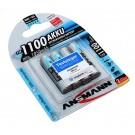 4 Stück Ansmann NiMH Akku Micro AAA (HR03) mit 1,2 Volt Spannung und min. 1050mAh Kapazität, Hersteller Artikelnummer 5035232.